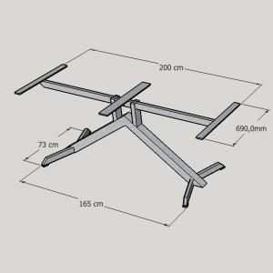 gepoedercoat stalen tafel frame